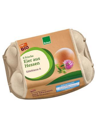 Darstellung von Bio Eier aus Hessen, 6 Stück