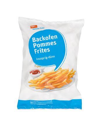 Darstellung von Backofen Pommes Frites