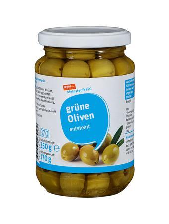 Darstellung von grüne Oliven