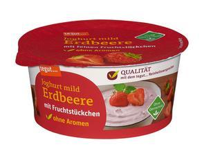 Darstellung von Joghurt mild Erdbeere