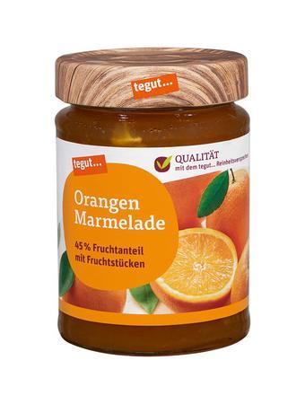 Darstellung von Orangen Marmelade