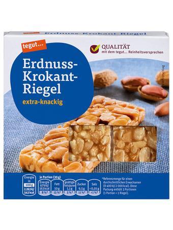Darstellung von Erdnuss-Krokant-Riegel