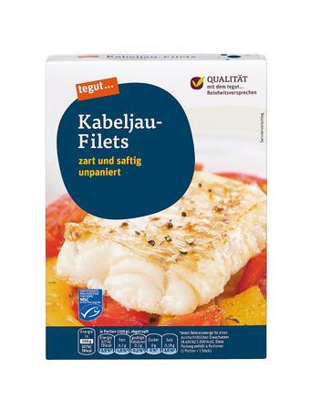 Darstellung von Kabeljau-Filets