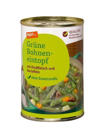 Darstellung von Grüne Bohneneintopf