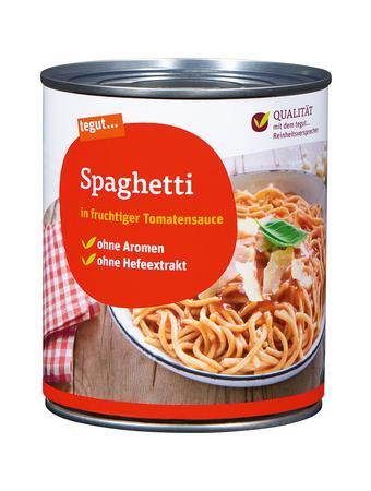 Darstellung von Spaghetti in Tomatensauce