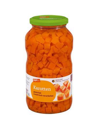 Darstellung von Karotten
