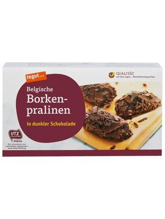Darstellung von Belgische Borkenpralinen in dunkler Schokolade