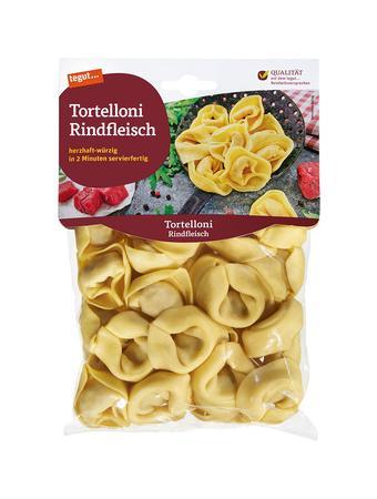 Darstellung von Tortelloni Rindfleisch