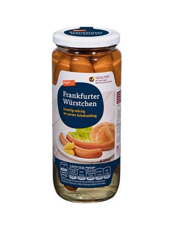 Darstellung von Frankfurter Würstchen