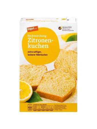 Darstellung von Backmischung Zitronenkuchen