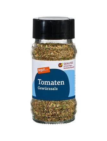 Darstellung von Tomaten Gewürzsalz