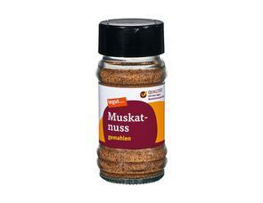 Darstellung von Muskatnuss, gemahlen