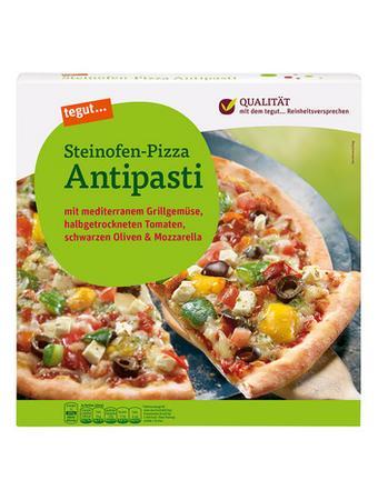 Darstellung von Steinofen-Pizza Antipasti