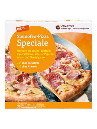 Darstellung von Steinofen-Pizza Speciale