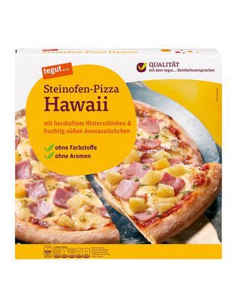 Darstellung von Steinofen-Pizza Hawaii