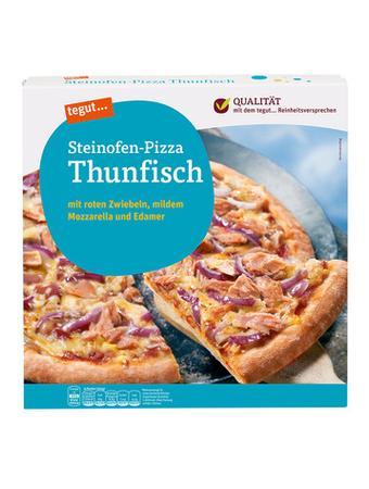 Darstellung von Steinofen-Pizza Thunfisch