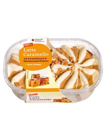 Darstellung von Eiscreme Latte Caramello