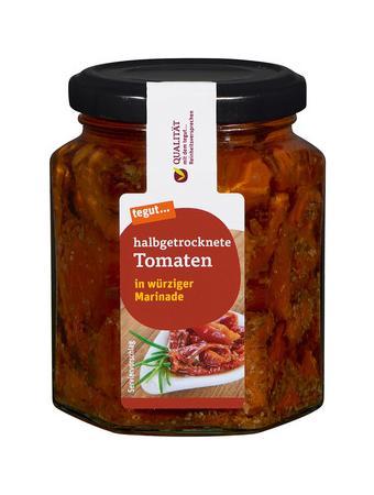 Darstellung von halbgetrocknete Tomaten