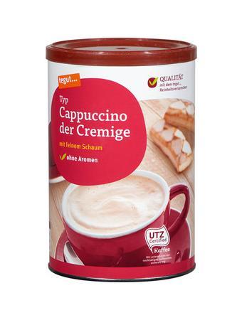 Darstellung von Cappuccino der Cremige