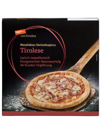 Darstellung von Steinofenpizza Tirolese