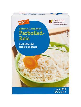 Darstellung von Spitzen-Langkorn Parboiled-Reis KB