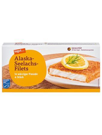 Darstellung von Alaska-Seelachs-Filets (paniert)