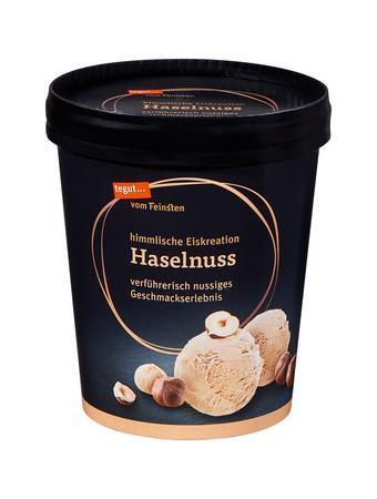 Darstellung von Haselnuss Eiscreme