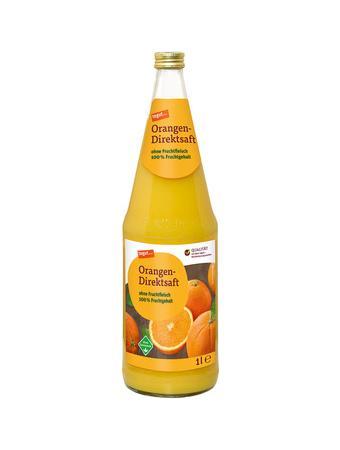 Darstellung von Orangen-Direktsaft Glasflasche