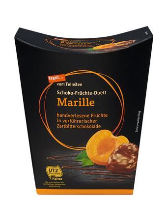 Darstellung von Schoko-Früchte-Duett Marille