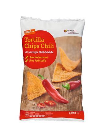 Darstellung von Tortilla Chips Chili
