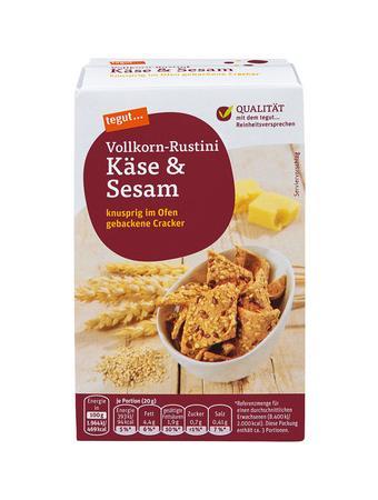 Darstellung von Vollkorn-Rustini Käse & Sesam