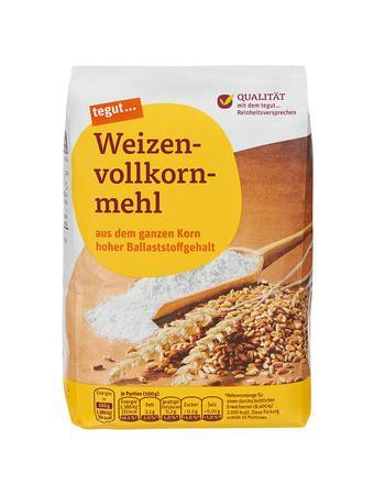 Darstellung von Weizenvollkornmehl