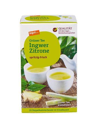 Darstellung von Grüner Tee Ingwer Zitrone
