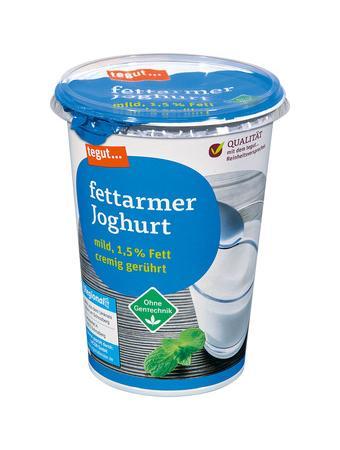 Darstellung von fettarmer Joghurt mild, 1,5% Fett