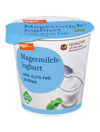 Darstellung von Magermilch-Joghurt 0,1% Fett
