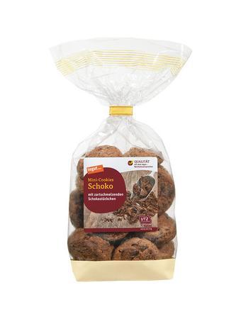 Darstellung von Mini-Cookies Schoko