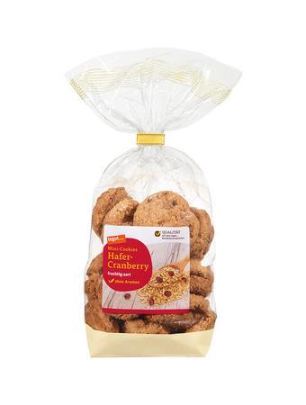 Darstellung von Mini-Cookies Hafer-Cranberry