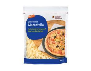 Darstellung von geriebener Mozzarella