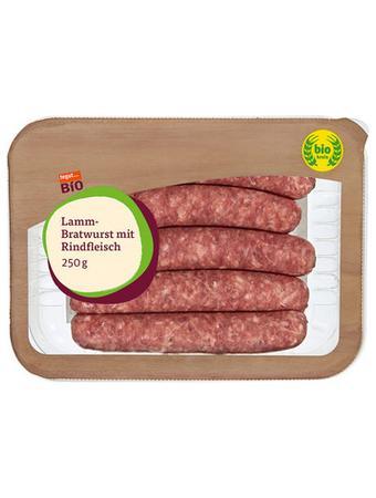 Darstellung von SB Bio Lamm-Bratwurst mit Rindfleisch