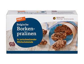 Darstellung von Belgische Borkenpralinen in zartschmelzender Milchschokolade