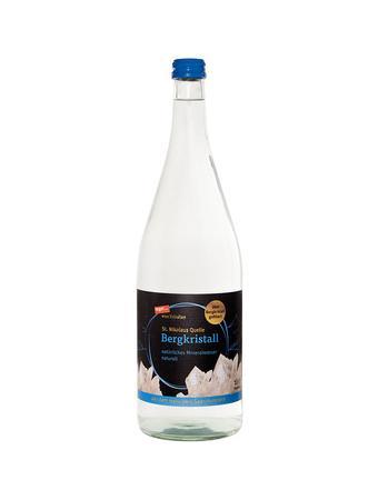 Darstellung von Mineralwasser Bergkristall