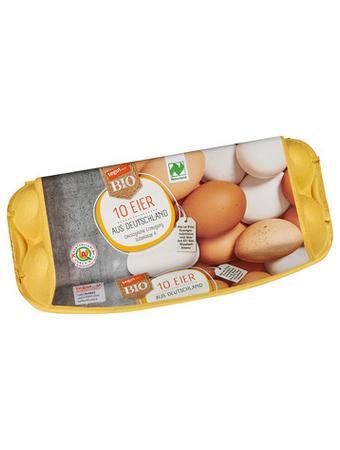 Darstellung von 10 Bio Eier aus Deutschland