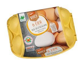 Darstellung von 6 Bio Eier aus Deutschland