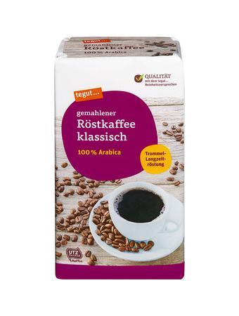 Darstellung von gemahlener Röstkaffee klassisch