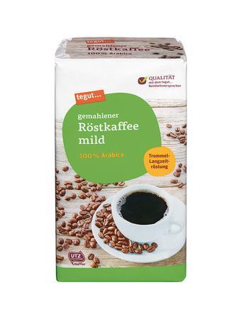 Darstellung von gemahlener Röstkaffee mild