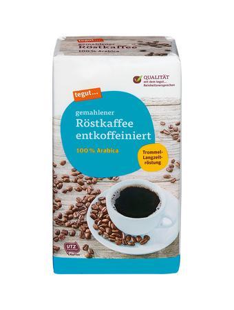 Darstellung von gemahlener Röstkaffee entkoffeiniert