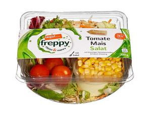 Darstellung von Tomate Mais Salat