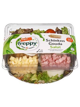 Darstellung von Schinken Gouda Salat