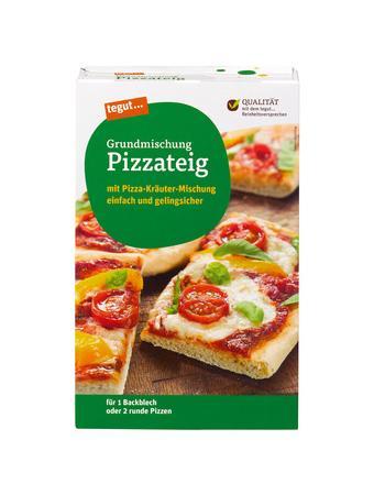 Darstellung von Grundmischung Pizzateig