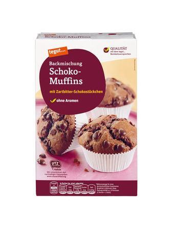Darstellung von Backmischung Schoko-Muffins